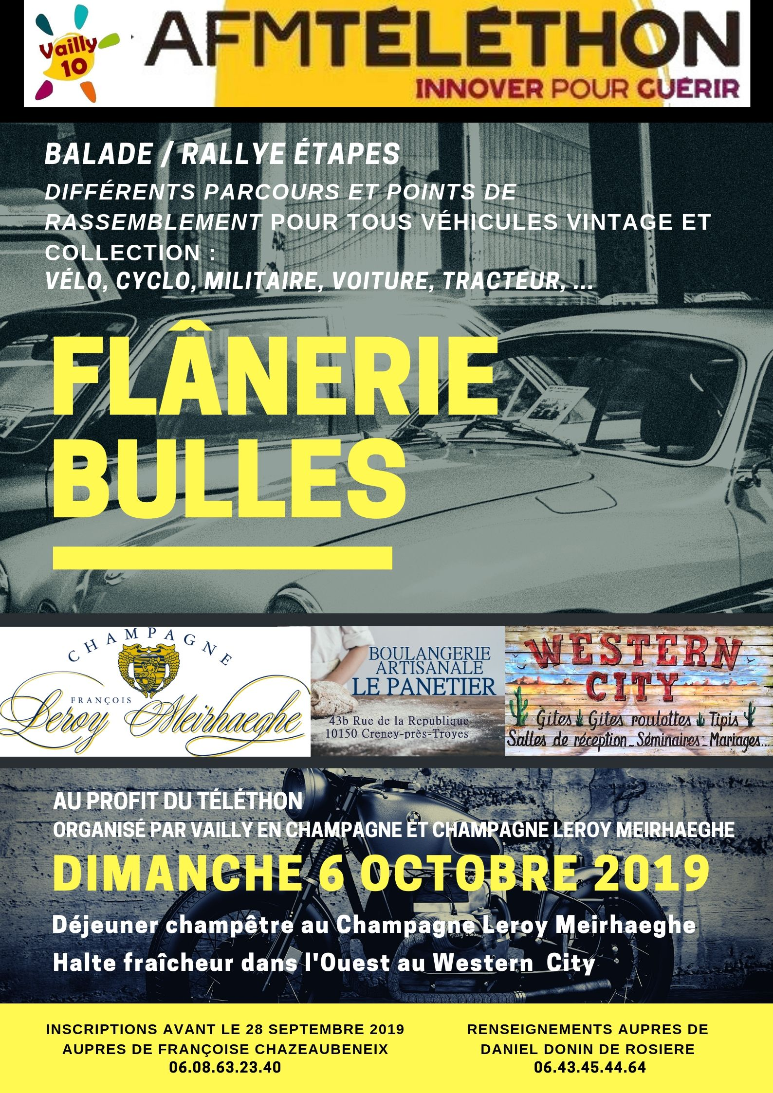 flânerie bulles champagne leroy meirhaeghe montgueux rallye véhicules vintage